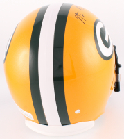 "Aaron Rodgers Signed Packers Full-Size Helmet Inscribed ""Fastest QB to 300 TD"" (Steiner Hologram) at PristineAuction.com"