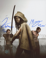 "Theshay West & Moses J. Moseley Signed ""The Walking Dead"" 8x10 Photo Inscribed ""Pet Walker"" (Legends COA) at PristineAuction.com"