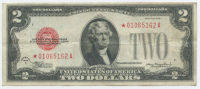 1928-C $2 Two Dollar Bank Note (Star Note)