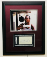 Sugar Ray Leonard Signed 16x20 Custom Framed Cut Display (PSA Encapsulated)