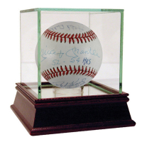 50 Home Run Club Baseball Signed by (10) with Mickey Mantle, Ralph Kiiner, Willie Mays, Johnny Mize (JSA Hologram)