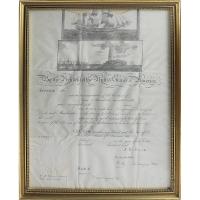 John Quincy Adams & Henry Clay Signed 12x16 Custom Framed Document (Beckett COA)