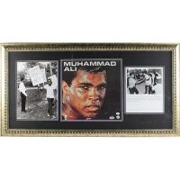 Muhammad Ali Signed 19x37 Custom Framed Album Display (PSA COA)