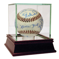 1961 National League All-Star Game Baseball Team-Signed by (21) with Roberto Clemente, Stan Musial, Hank Aaron, Sandy Koufax, Orlando Cepeda (PSA COA)