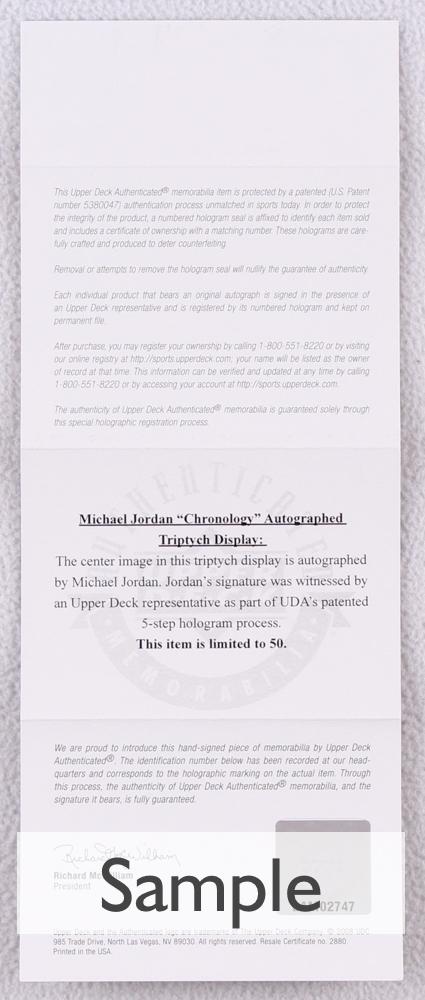 ed81c90eb7b Michael Jordan Signed LE Hall of Fame 50th Anniversary Logo Spalding  Basketball (UDA COA)