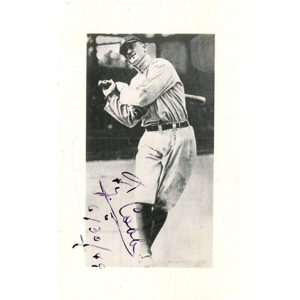 "Ty Cobb Signed Tigers 2x4 Photo Inscribed ""6/30/49"" (JSA Hologram) at PristineAuction.com"