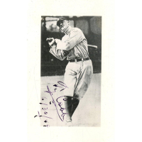 "Ty Cobb Signed Tigers 2x4 Photo Inscribed ""6/30/49"" (JSA Hologram)"