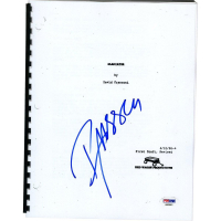 "Russell Crowe Signed ""Gladiator"" Full Movie Script (PSA Hologram)"