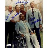 Dodgers Greats 8x10 Photo Team-Signed by (4) with Don Drysdale, Pee Wee Reese, Duke Snider & Sandy Koufax (JSA Hologram)