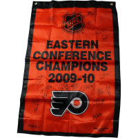 2009-10 Philadelphia Flyers Eastern Conference Champions 36x24 Banner Team-Signed by (18) with Claude Giroux, Scott Hartnell, Daniel Briere (SGC COA)