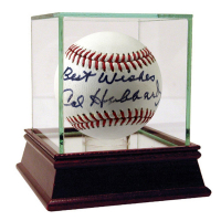 "Cal Hubbard Signed OAL Baseball Inscribed ""Best Wishes"" (JSA Hologram, Beckett COA & SGC COA)"