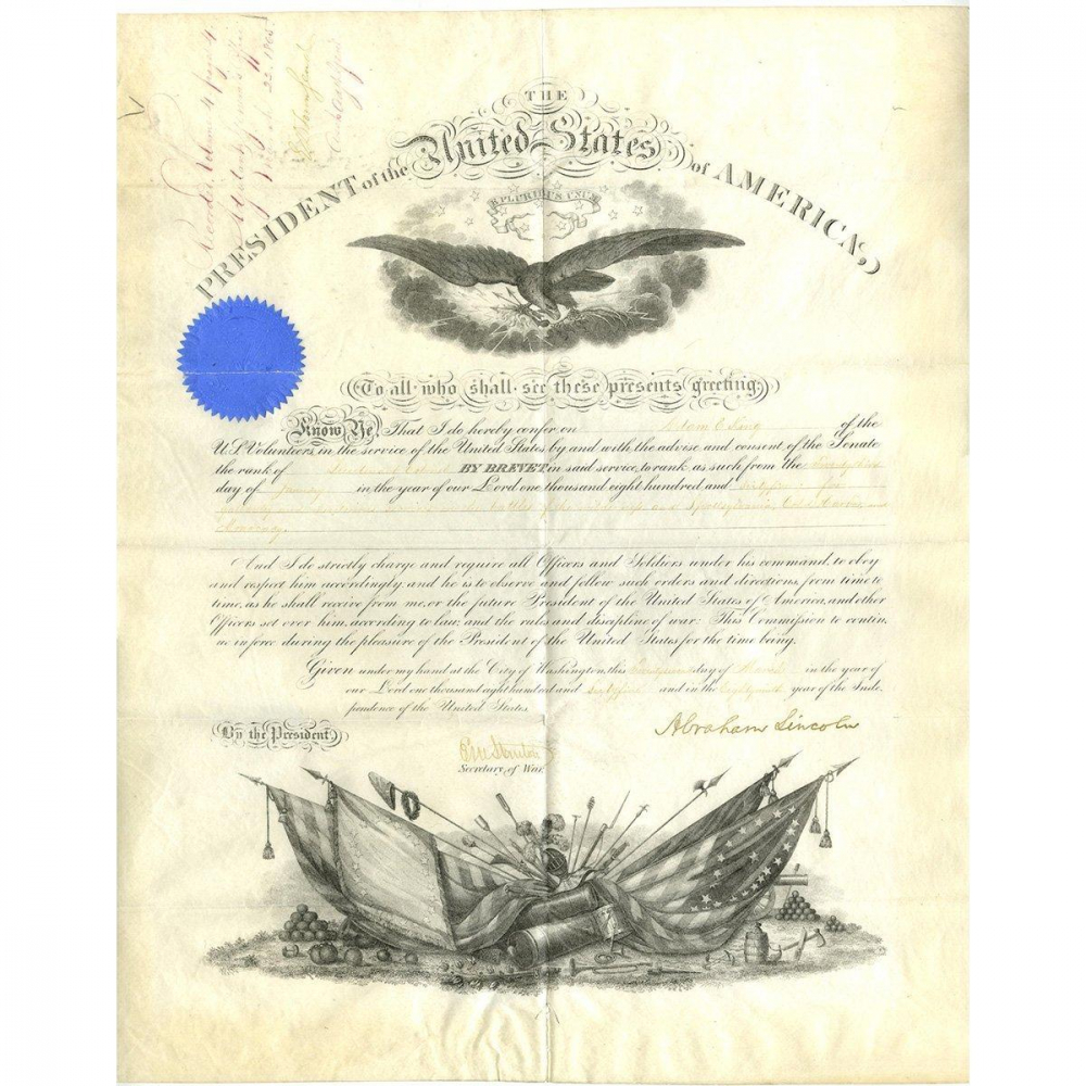 Abraham Lincoln Signed Official 1865 Document (Beckett COA) at PristineAuction.com