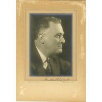 Franklin D. Roosevelt Signed 4x6 Photo (Beckett COA)