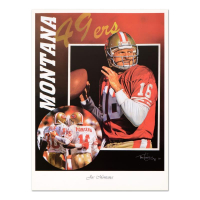 "Tim Cortes ""Glory Days - Joe Montana"" 18x24 Photo at PristineAuction.com"