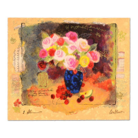 "Alexander Galtchansky & Tanya Wissotzky Signed ""Still Life with Flower Bouquet"" Limited Edition 20x16 Serigraph at PristineAuction.com"