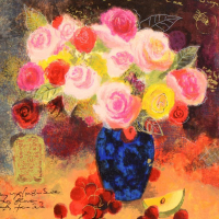 """Alexander Galtchansky & Tanya Wissotzky Signed """"Still Life with Flower Bouquet"""" Limited Edition 20x16 Serigraph at PristineAuction.com"""