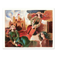 """Galina Datloof Signed """"Musical Flight"""" Limited Edition 17x15 Serigraph at PristineAuction.com"""
