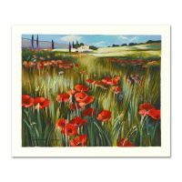 "Yuri Dupond Signed ""Red Meadow"" Limited Edition 13x11 Serigraph at PristineAuction.com"