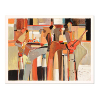 """Yuri Tremler Signed """"Music at the Bar"""" Limited Edition 20x14 Serigraph at PristineAuction.com"""