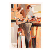 """Yuri Tremler Signed """"Ladies' Lunch"""" Limited Edition 14x20 Serigraph at PristineAuction.com"""