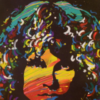 """KAT Signed """"Jim Morrison"""" Limited Edition 20x20 Lithograph at PristineAuction.com"""