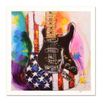 """KAT Signed """"American Stratocaster"""" Limited Edition 20x20 Lithograph (PA LOA) at PristineAuction.com"""