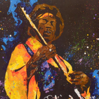 "KAT Signed ""Hendrix"" Limited Edition 20x20 Lithograph at PristineAuction.com"