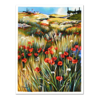 """Yuri Dupond Signed """"Country Tranquility"""" Limited Edition 13x16 Serigraph at PristineAuction.com"""