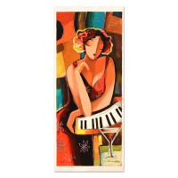 """Michael Kerzner Signed """"The Pianist"""" Limited Edition 11x24 Serigraph at PristineAuction.com"""