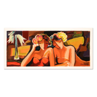 """Michael Kerzner Signed LE """"Sisters"""" 24x11 Serigraph at PristineAuction.com"""