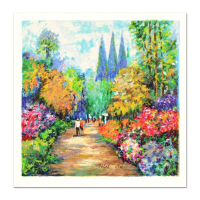"""Dimitri Polak Signed """"Spring Road"""" Limited Edition 13x13 Serigraph at PristineAuction.com"""