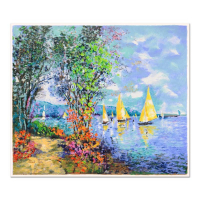"Dimitri Polak Signed ""Lakeshore Fishing"" Limited Edition 25x21 Serigraph at PristineAuction.com"