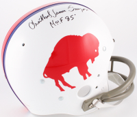 "O.J. Simpson Signed Bills Throwback Suspension Full-Size Helmet with Full Name ""Orenthal James Simpson"" Inscribed ""HOF 85"" (JSA COA) at PristineAuction.com"