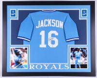 Bo Jackson Signed Royals 35x43 Custom Framed Jersey (Beckett COA)