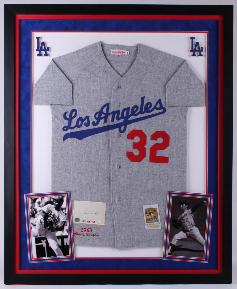 261545b1749 Sandy Koufax Signed Dodgers 36x44 Custom Framed Limited Edition Jersey  Display (Mounted Memories Hologram   Online Authentics Hologram)