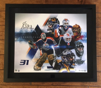 "Grant Fuhr Signed LE ""Evolution"" 20x24 Custom Framed Photo (UDA COA) at PristineAuction.com"