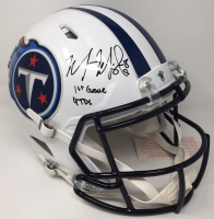 """Marcus Mariota Signed Tennessee Titans LE Full-Size Authentic On-Field Speed Helmet Inscribed """"1st Game 4 TDs"""" (Steiner COA) at PristineAuction.com"""