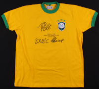 "Pele Signed Brazil 1970 World Cup Final Jersey Inscribed ""3x W.C. Champ"" (PSA COA)"