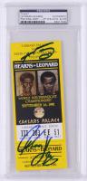 Sugar Ray Leonard & Thomas Hearns Signed World Welterweight Championship Ticket Stub (PSA Encapsulated) at PristineAuction.com