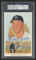 Mickey Mantle Signed 1989 Perez-Steele Celebration Postcards #28 (PSA Encapsulated & Auto Grade 10)