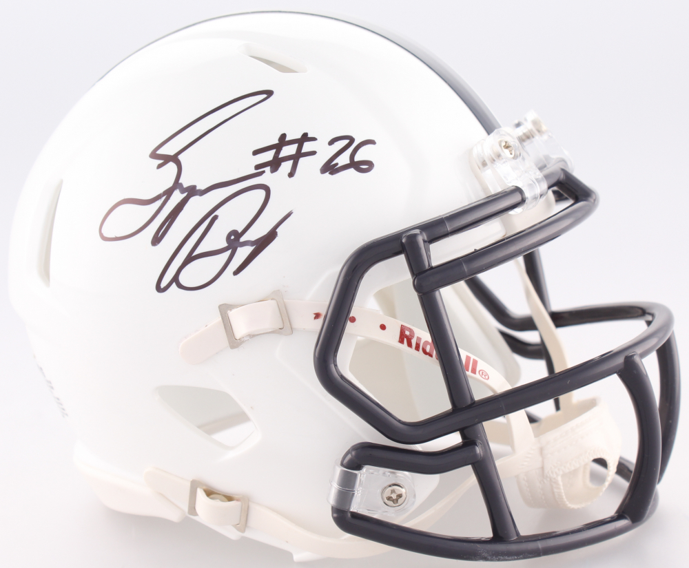 6ecbfde61e9 Saquon Barkley Signed Penn State Nittany Lions Speed Mini-Helmet (JSA COA)  at