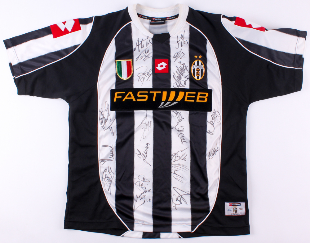 aeb41c19651 2003-04 Juventus Jersey Team Signed by (21) with Pavel Nedved
