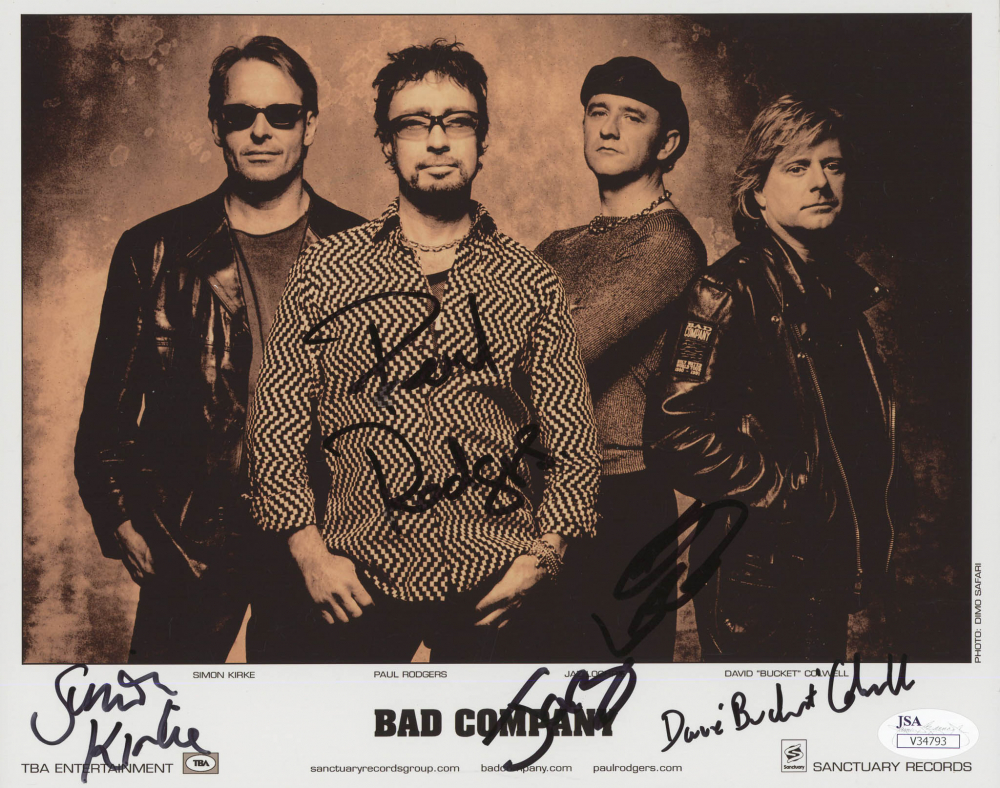 Entertainment Memorabilia Simon Kirke Signed 8x10 Photo Coa Bad Company Music