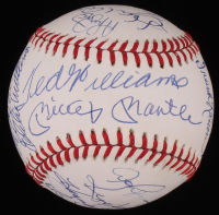500 Home Run Club OAL Baseball Signed by (21) with Mickey Mantle, Ted Williams, Hank Aaron, Willie Mays (PSA LOA)