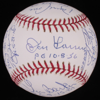 Perfect Game Pitchers OML Baseball Signed by (16) with Sandy Koufax, Jim Bunning, Randy Johnson with Perfect Game Inscriptions (PSA LOA)