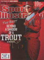 Mike Trout Signed 2014 Sports Illustrated Magazine (PSA COA)