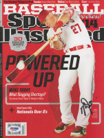 Mike Trout Signed 2014 Sports Illustrated Magazine (PSA COA)