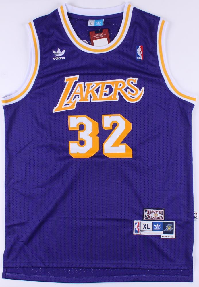 50bba51a3c96 Magic Johnson Signed Lakers Jersey (PSA COA) at PristineAuction.com