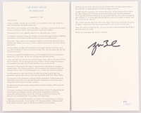 George Bush Signed September 11, 2001 Speech (JSA COA)