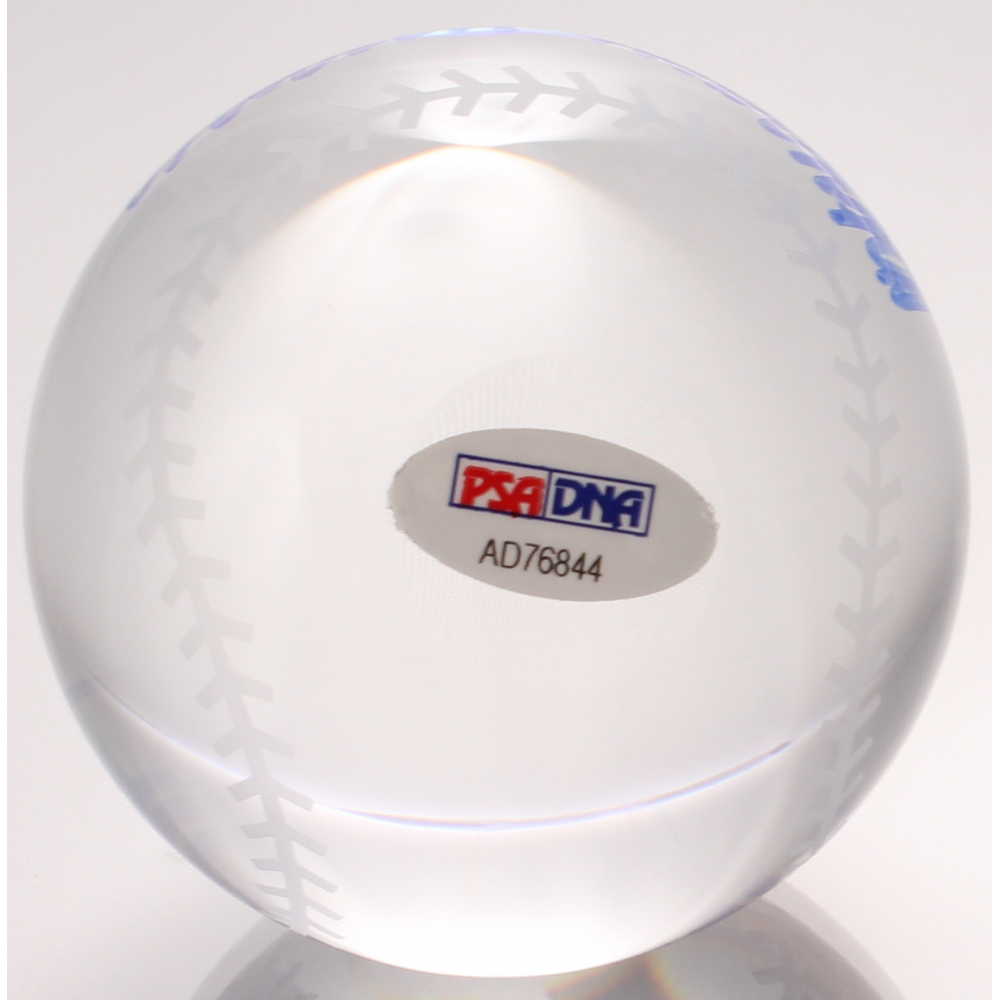 Frank Robinson Signed Lead Crystal Baseball (PSA COA) at PristineAuction.com